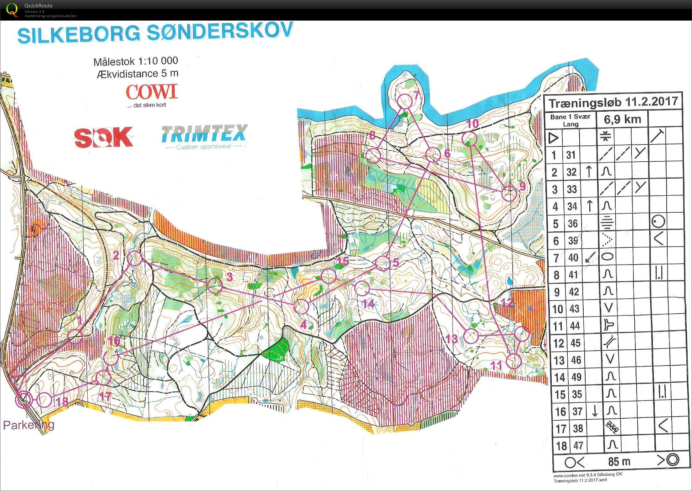 Silkeborg Sønderskov - Bane 1 - February 11th 2017 - Orienteering ...
