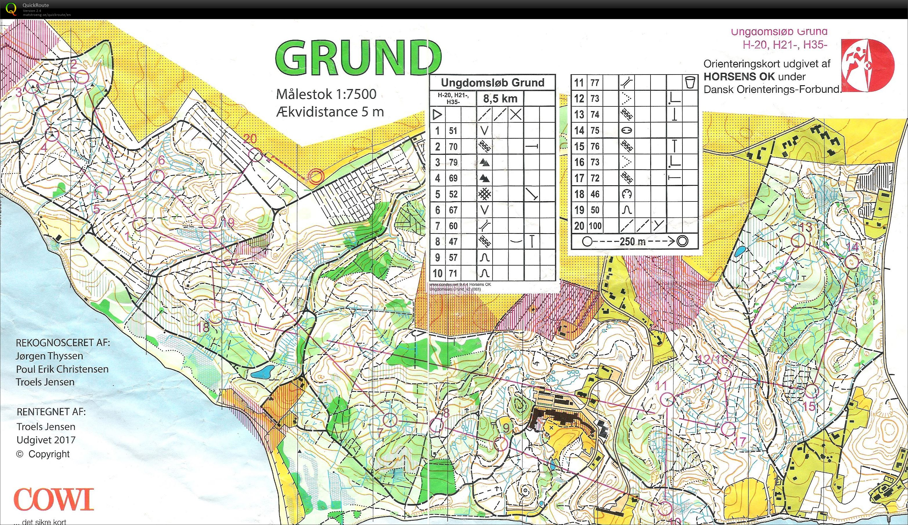 Grund H35 May 28th 2017 Orienteering Map From Jess Rasmussen