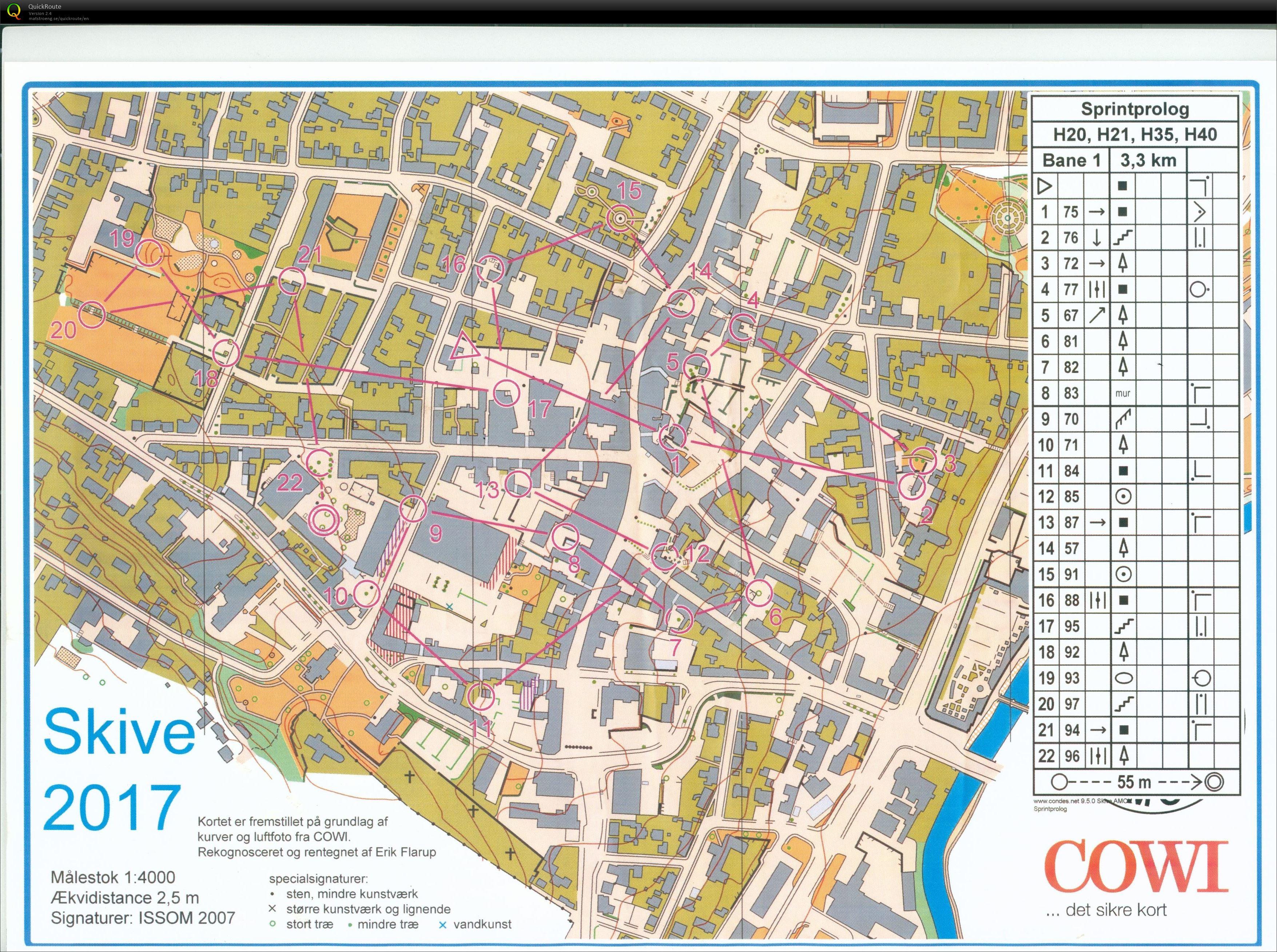 Skive by sprint H35 June 10th 2017 Orienteering Map from Keld Gade