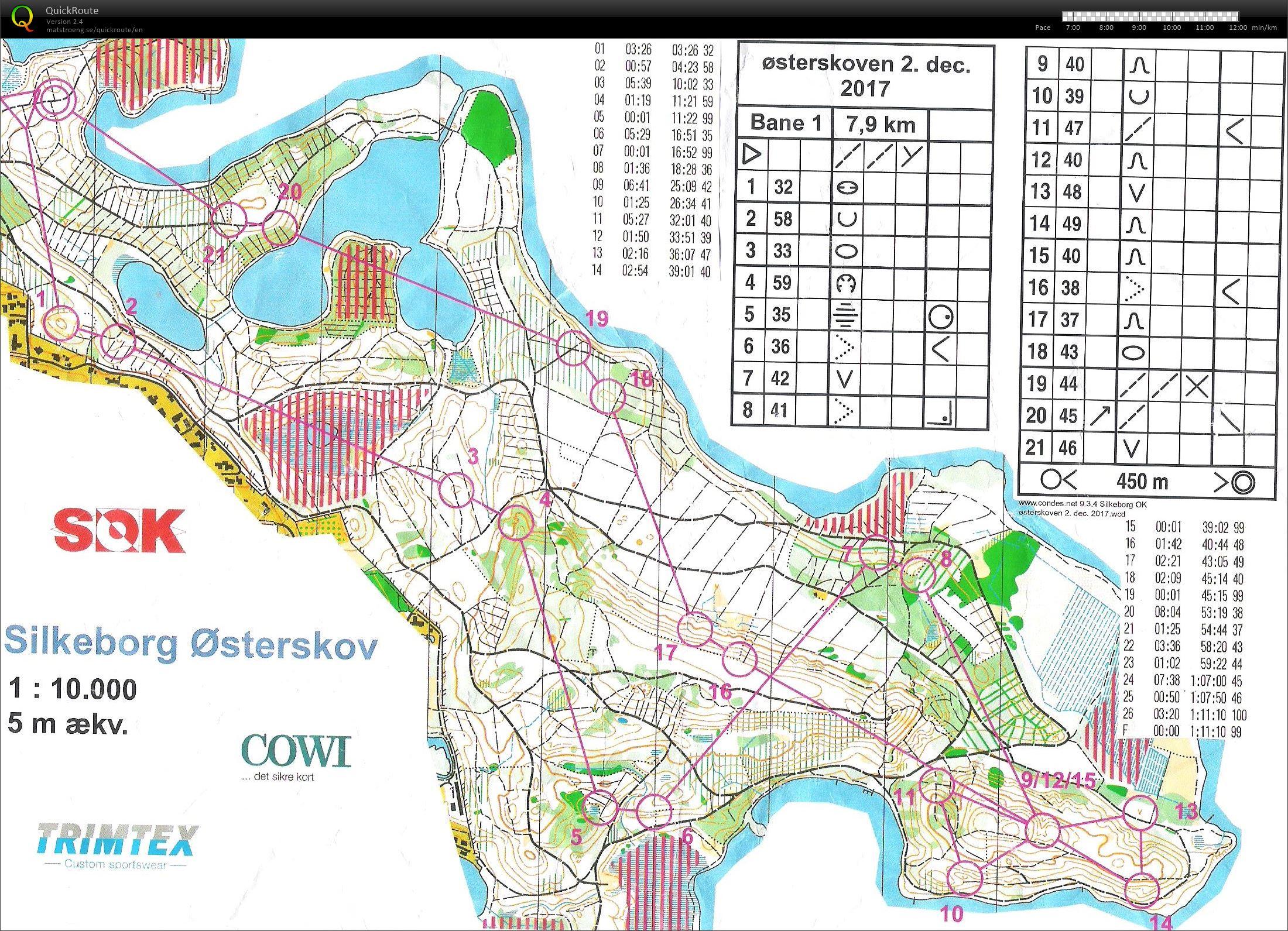 Silkeborg Østerskov - bane 1 - December 2nd 2017 - Orienteering Map ...
