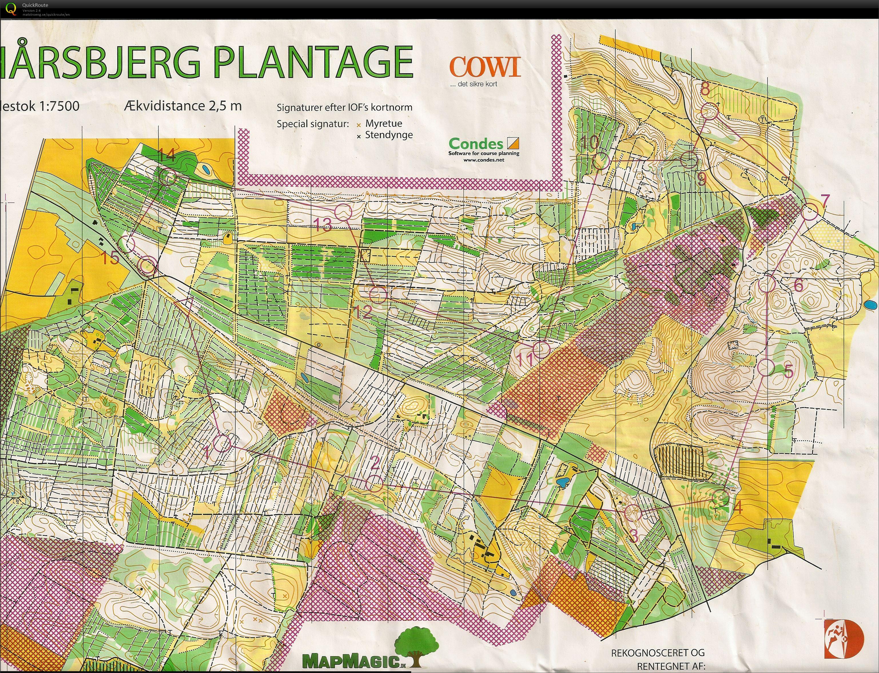 Jfm Lang H 60 August 19th 2018 Orienteering Map From Stig Barrett