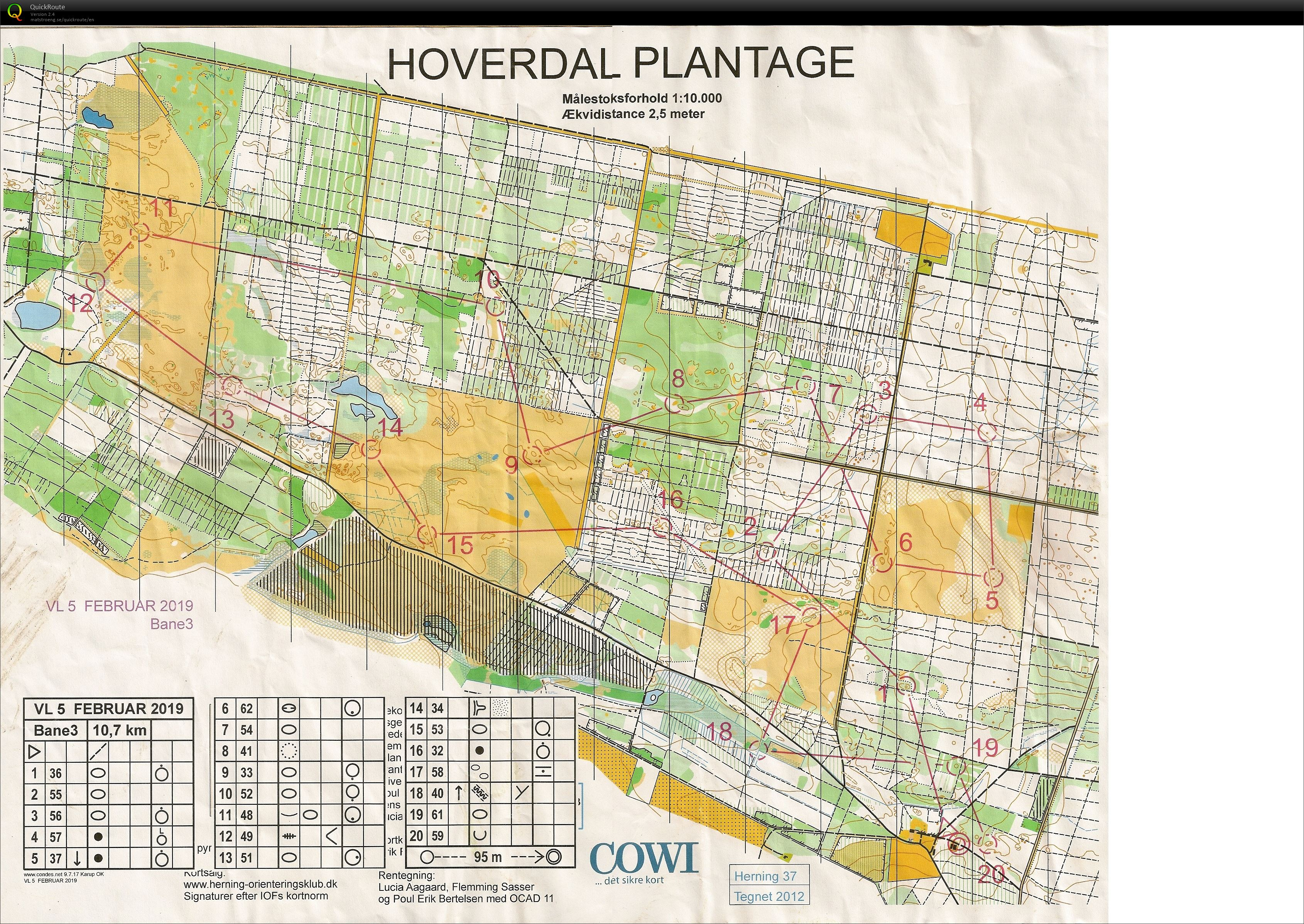 Vinterlang Bane 10 Km February 17th 2019 Orienteering Map From