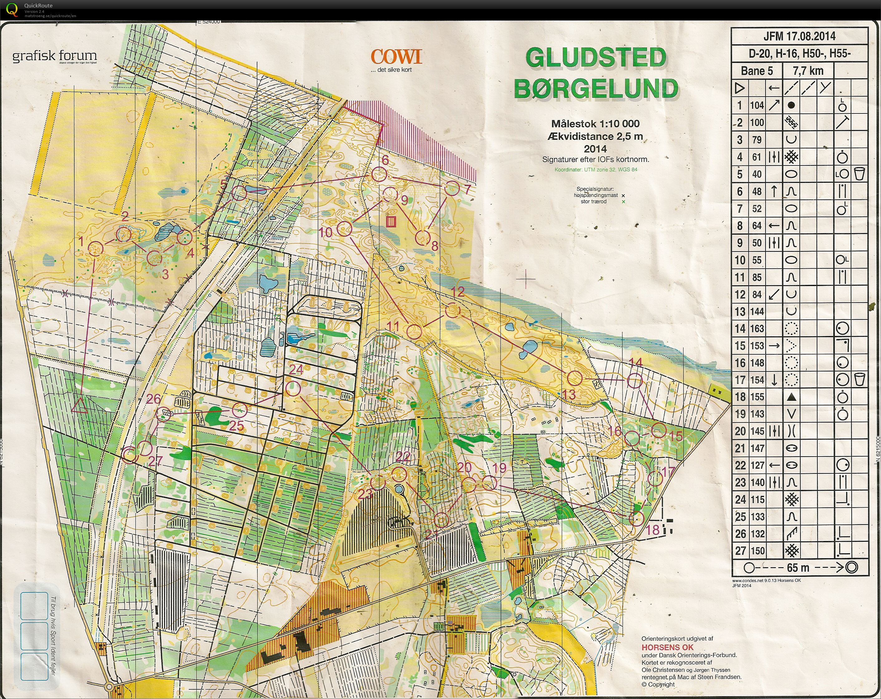 JFM Lang H55 Brglund August 17th 2014 Orienteering Map from